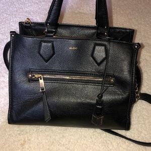 Aldo black satchel EUC